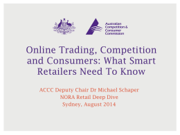 Online Trading, Competition and Consumers