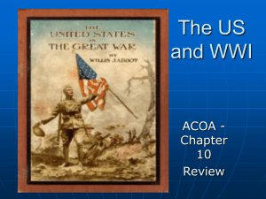 The US and WWI
