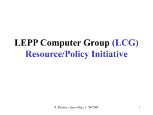 LEPP Computer Group (LCG) Mission Statement: