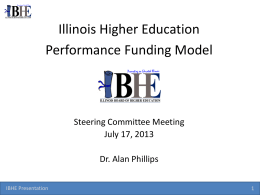 Presentation - Illinois Board of Higher Education