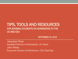 Advising Students - Tips, Tools and Resources