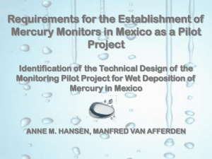 Requirements for the Establishment of Mercury Monitors in Mexico