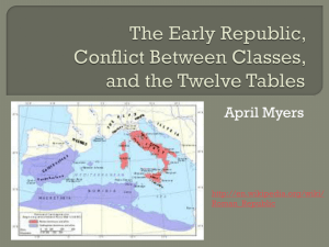 Early Republic, Conflict Between Classes, and Twelve Tables