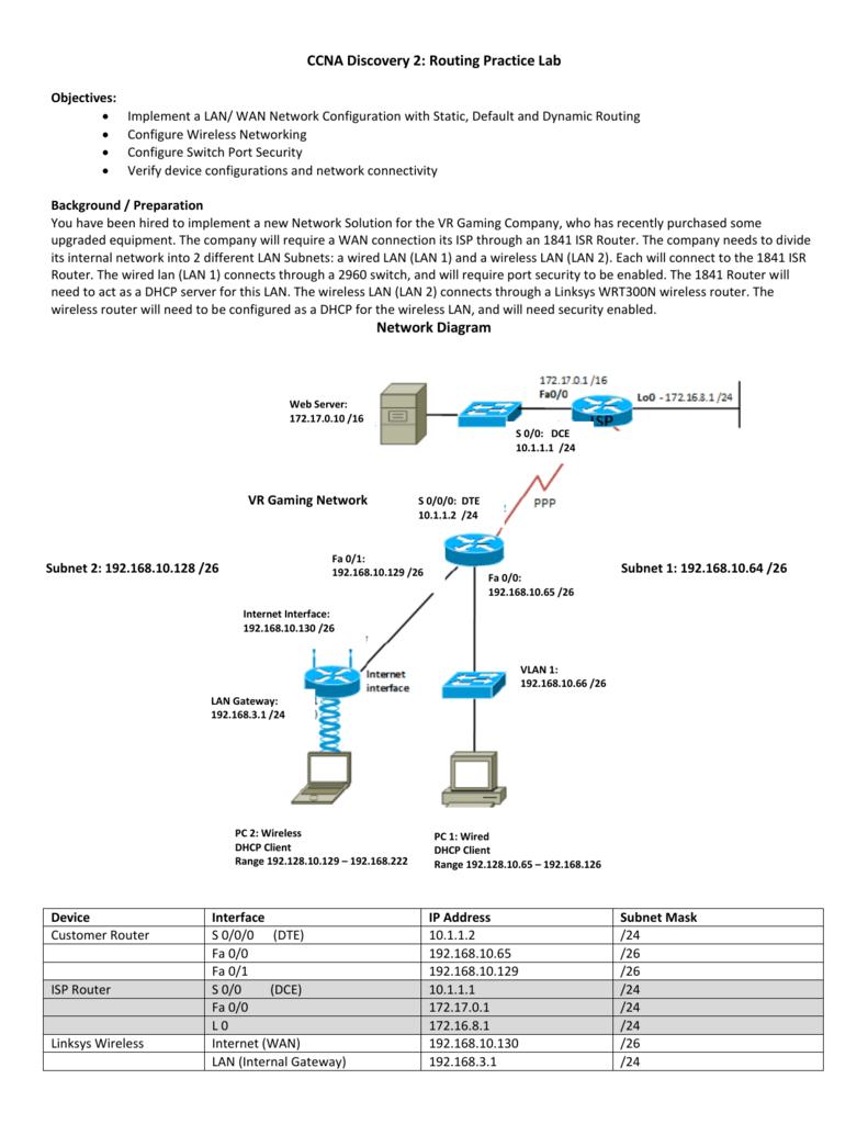 Lab Handout - Cisco Networking Academy