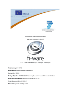 D.2.6.3 State of the Art Analysis – Emerging Technologies
