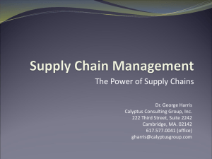 Supply Chain Management - National Contract Management