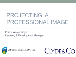 Creating a Professional Image