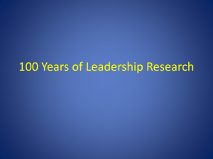 100 Years of Leadership Research