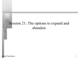 Session 20: The options to expand and abandon