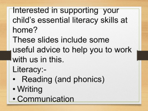 Phonics Info - West Lakes Academy