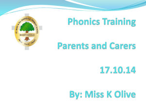 Parent Phonics Training Presentation