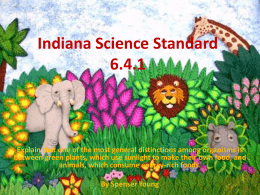 Indiana Science Standard 6.4.1