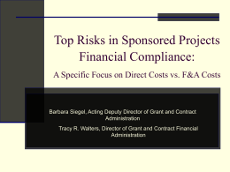 Top Grant Compliance Financial Risks