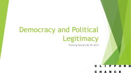 Democracy and Legitimacy - Warwick Debating Society