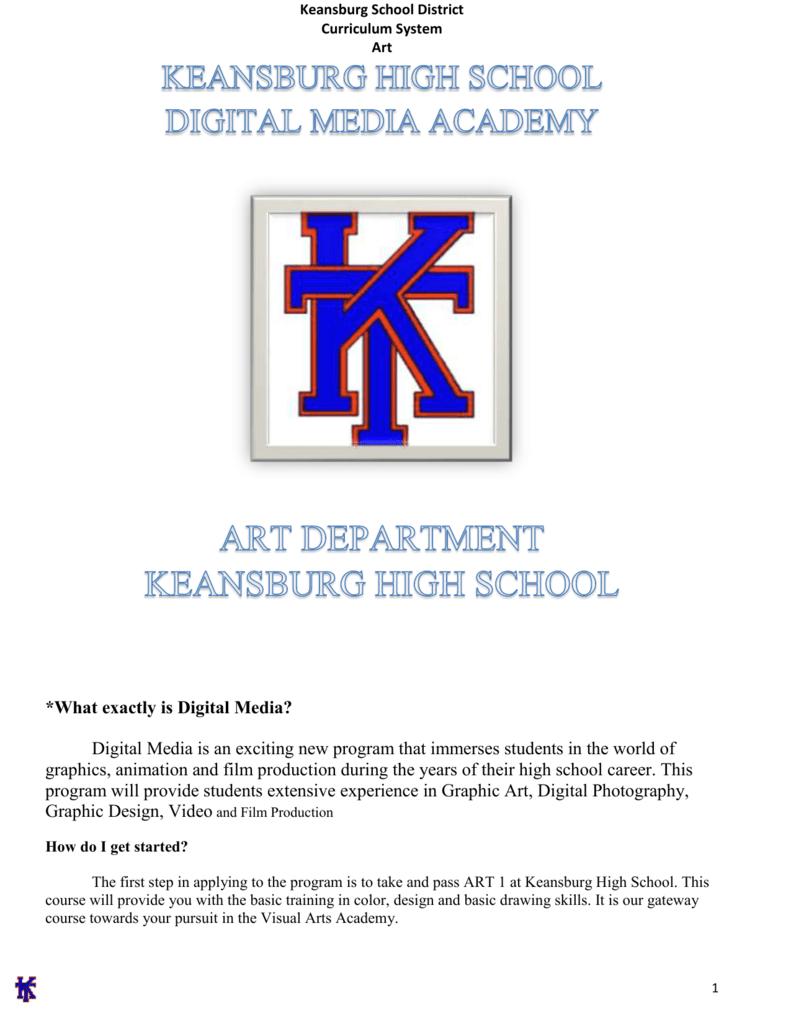 Digital Video Syllabus Keansburg School District