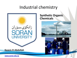 Kazem.R.Abdollah Synthetic Organic Chemicals