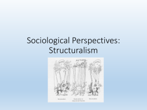 Sociological Perspectives: Structuralism