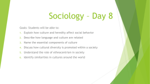Sociology * Day 6