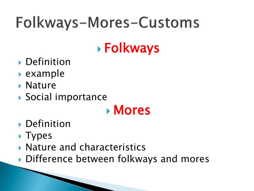 list of folkways