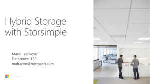 Hybrid Storage with StorSimple Technical Data Deck