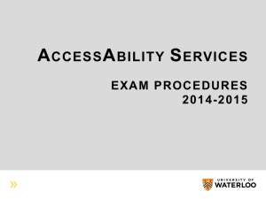 exam spiel/procedures - University of Waterloo