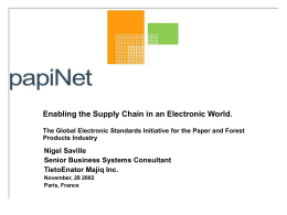 The Global electronic Standards Initiative for the Paper