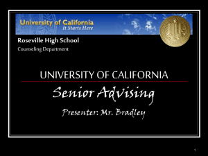 University of California Presentation