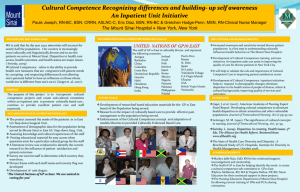 Cultural Competence Recognizing differences and building