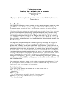 Facing Ourselves: Reading Race and Gender