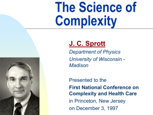 The Science of Complexity - University of Wisconsin