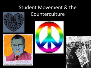 Student Movement & the Counterculture