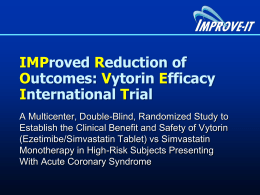 IMPROVE IT - LBCT Final - Clinical Trial Results