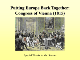 Congress of Vienna (1815)