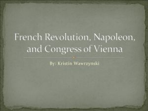 French Revolution, Napoleon, and Congress of Vienna