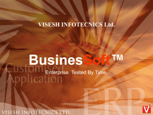 DOWNLOAD PRESENTATION - Visesh Infotecnics Ltd.