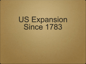 US Expansion Since 1783
