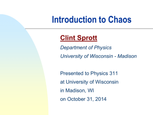 Introduction to Chaos - University of Wisconsin–Madison
