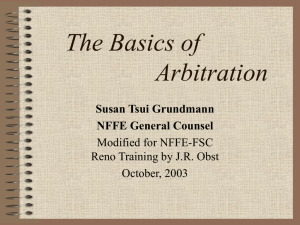 The Basics of Arbitration