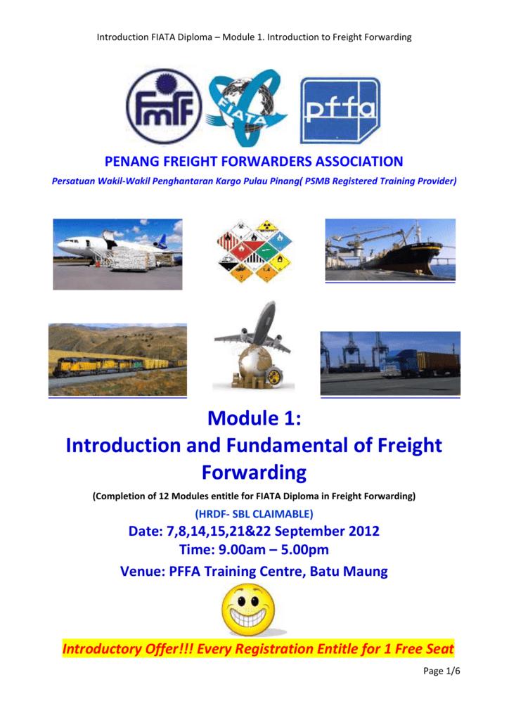 Introduction FIATA Diploma * Module 1  Introduction to