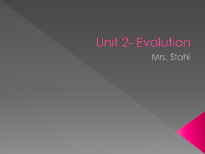 Unit 2- Evolution for Biology 2015 November 2nd