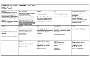 SUMMER TERM 2014 FORM: Year 8