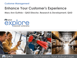 Enhance Your Customer's Experience
