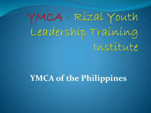 YMCA - Rizal Youth Leadership Training Institute through the Years