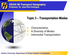 Chapter 4 - Transportation Modes