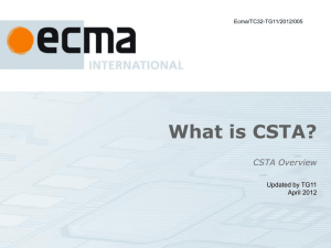 CSTAoverview - Ecma International