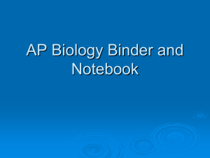 AP Biology Binder