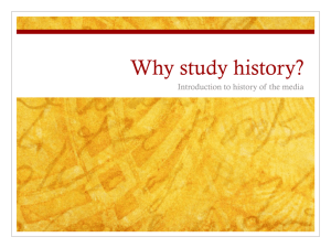 Introduction: Why study history?