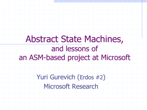 Abstract State Machines: From Foundations to Tools