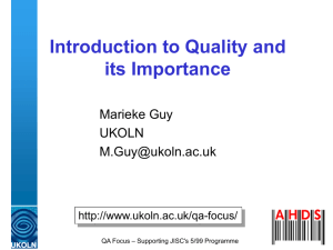 Introduction to Quality and its Importance