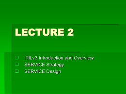 ITILv3 Introduction and Overview